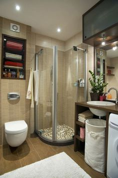 Bathroom Shower Designs Small Spaces 57 small bathroom decor ideas | basement bathroom, shelving and
