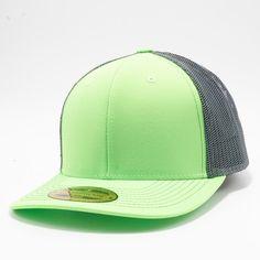 8b75662997180 PB222 Pit Bull Neon Cambridge Trucker Hat  N.Green Charcoal  Neon Green
