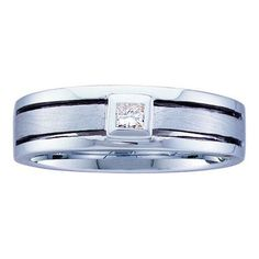 1/6CT-Diamond INVISIBLE MENS BAND