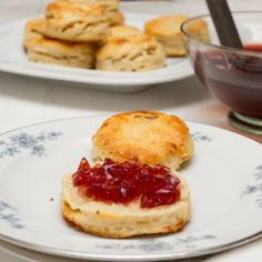 Stilton Scones with Sloe Port Jelly - a great way to make a little cheese go further. Classic flavours in a new way.