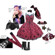 Angelic Pretty - Holy Lantern -Halloween - Demon - Gothic - My Polyvore Coords