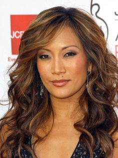 Carrie Ann Inaba - LOVE her hair the past few years.  The color is always fab and so is the style.