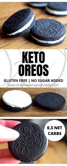 Keto Oreo Cookies Keto Oreos are gluten free, low carb, no sugar added and are almost identical to original Oreos! This is one sandwich cookie you have to try. Keto Cookies, Candy Cookies, Shortbread Cookies, Bon Dessert, Dessert Recipes, Low Carb Desserts, Low Carb Recipes, Gluten Free Oreos, Sugar Free Oreos