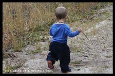 Encouraging an exploring kid