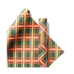 love tartan wrapping paper