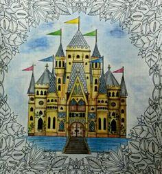See More Castle Leaves Enchanted Forest Castelo Floresta Encantada Johanna Basford