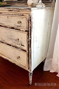 Hometalk :: Chippy Milk Painted Dresser