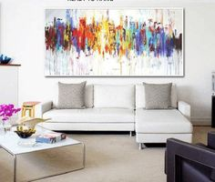 Art Painting wall art large painting abstract painting acrylic painting oil painting from jolina anthony signet express shipping Oil Painting Frames, Large Painting, Oil Painting Abstract, Cheap Paintings, Colorful Paintings, Your Paintings, Living Room Pictures, Wall Art Pictures, Art Original