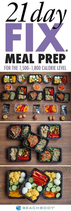 If you've fallen into a meal prep rut, it's time to try something new! Click through for a full 21 Day Fix meal prep menu, complete with tasty recipes, a grocery list, and preparation instructions. // Beachbody // // 21 Day Fix Approved // nutrition // cl Meal Prep Menu, Healthy Meal Prep, Healthy Snacks, Weekend Meal Prep, Fitness Meal Prep, Meal Preparation, Easy Fitness, Fitness Plan, Fitness Workouts