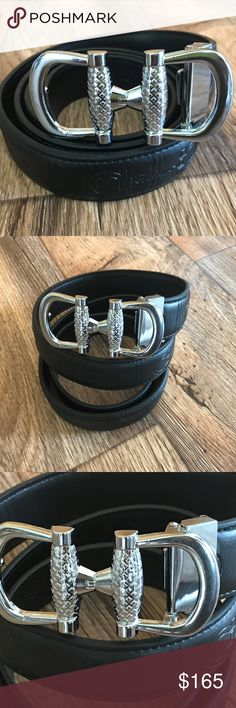 Salvatore Ferragamo Men Belt Black Waistband 41-42 Salvatore Ferragamo Men's Belt Black Leather Waistband Size 41-42  Brand: Salvatore Ferragamo  Size: 41-42 inches  Color:   Belt color: Black Buckle color: Silver  made in Italy  Brand New, Never used. Comes with Box and Dust Bag, No Paper, Box may damage. I am not sure about the authenticity. I don't have any proof of authenticity. So you will get what you see in the photos. Thanks  Brand new. never used. New without Tags. Salvatore…