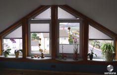 Sonderformen Plissee für Dreiecksfenster / special form pleatd blinds for triangel windows