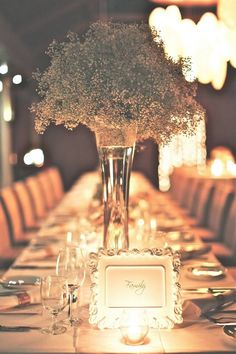 Baby's breath tablescapes