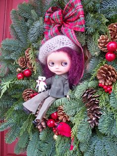 Zephyr loves posing for Christmas, her favorite holiday of all! by jny_jeanpretty, via Flickr