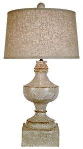 Distressed Balustrade Lamp