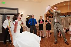 Hilarious! Instead of a garter he pulled out granny panties