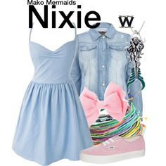 Inspired by Ivy Latimer as Nixie on Mako Mermaids.