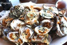 Grilled Oysters from Silangang Nayon Restaurant Grilled Oysters, Find Hotels, Travel Guide, Good Food, Restaurant, Ethnic Recipes, Travel Guide Books, Diner Restaurant, Restaurants