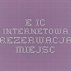 e-IC - Internetowa rezerwacja miejsc