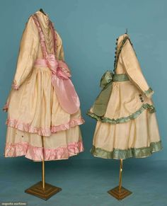 girls party dress 1870 | Found on augusta-auction.com