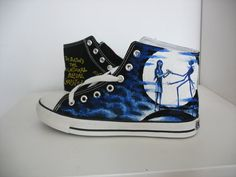 disney converse   converse Nightmare before Christmas shoes Hand-painted on converse ...