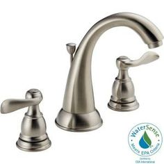 Delta Traditional 8 in. Widespread 2-Handle High-Arc Bathroom Faucet in Brushed Nickel-35996LF-BN at The Home Depot