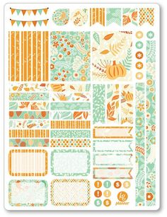 Hello Fall Decorating Kit / Weekly Spread Planner Stickers http://amzn.to/2saUSNp