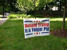 Best Donald Trump Protest Signs: Donald Trump Is A Vulgar Pig
