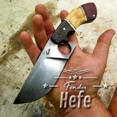 The Fender HEFE is a gunslinger inspired fighter knife with classic character thats comfortably carried on the belt with its quick-draw sheath. The Fender HEFE is a downright stylish EDC with impeccable ergonomics. It measures ~ 9.8 inches overall length and ground from 1/4 thick 1095