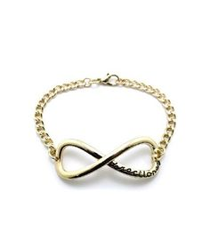 New One Direction Infinity Directioner Bracelet (Gold)
