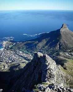 Breathtaking view from Table Mountain Cape Town South Africa. Table Mountain Cape Town, Cape Town South Africa, Anna, Water, Outdoor, Instagram, Gripe Water, Outdoors, Outdoor Games
