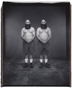 Don and Dave Wolf, 44 years old, Dave older by 6 minutes,Twinsburg,Ohio, 2001
