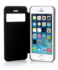 Slim Window Flip Case iPhone 5 / 5S - Zwart