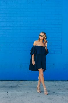 I spotted this MLM Label Maison dress earlier this year and fell in love with it's effortless, chic styling and of course, the off the shoulder styling!