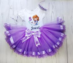 Personalized Sofia The First Tutu Outfit 4th Birthday outfit | Etsy