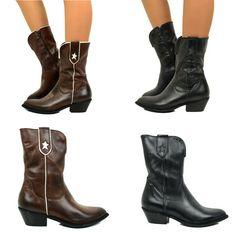 Details about Stivali western Boots Texani Grinders marrone vera pelle suola cuoio cucita