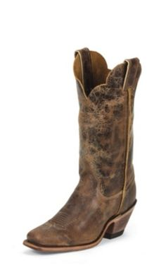 WOMEN'S CRACKED DARK BROWN BENT RAIL® BOOTS Justin boots.  Sold @ Discount Shoes in Bent Creek NC.