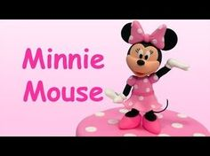 How to make Minnie Mouse (Cake Topper) / Cómo hacer a Minnie Mouse para decorar tortas - YouTube