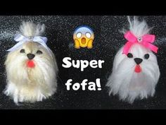 Yarn Animals, Pom Pom Animals, Towel Animals, Crochet Animals, Diy Crafts Crochet, Yarn Crafts, Felt Crafts, Crochet I Cord, Crochet Buttons