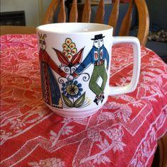 Vintage 60's Figgjo Flint Norsk Design-Wedding Pattern. 49cents again....mug fetish!