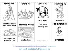 Brownie Promise & Law Minibooks - Girl Guides of Canada