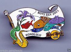 Honolulu Hawaii 2003 ltd ed 500 top design- Hard Rock Cafe PIN Spilla broche Boys Day, Hard Rock, Hawaii, Mint, Ebay, Design, Hard Rock Music, Peppermint