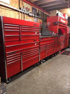 Tool Box Storage, Barn Storage, Storage Room, Built In Storage, Mechanic Garage, Mechanic Tools, Garage Tools, Garage Shop, Shop Tool Boxes