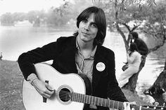 Herb Wise photograph of Jackson Browne, Toronto, Canada 1972.