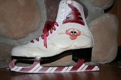 Thistle Dew Crafts - love the peppermint blades on this ice skate