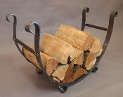 hand forged log holder