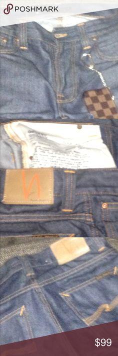 Nudie Jeans Nudie Denim Jeans 30x34 100% authentic pure denim Nudie Jeans Jeans
