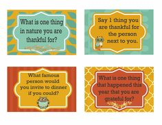Thanksgiving Dinner Conversation Cards - Second Chance To Dream