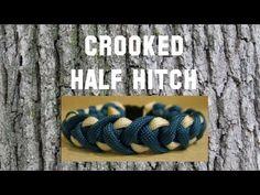 """How to make a Crooked Half Hitch Paracord Bracelet (3/8"""" buckle)"""