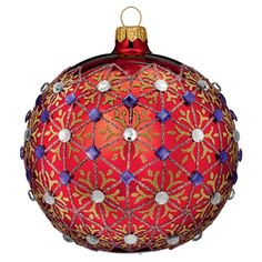 Waterford's Alana Set of 2 Ornaments Glittering, hand blown and ...