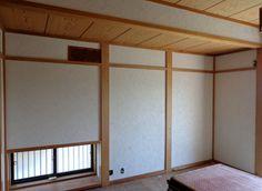 和室の壁を「ハイブリッド珪藻土」で仕上げ。(模様つき)